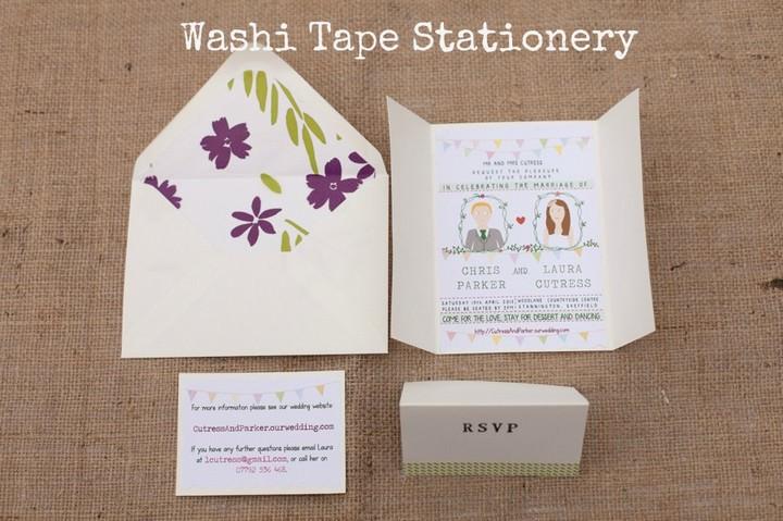Washi tape stationery