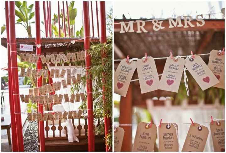 boho planned weddings - table plans