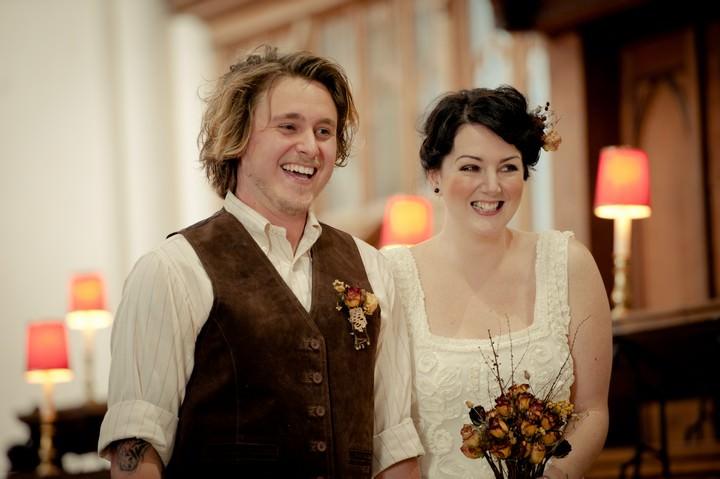 wedding ceremonyat Saffron Walden St Mary's church