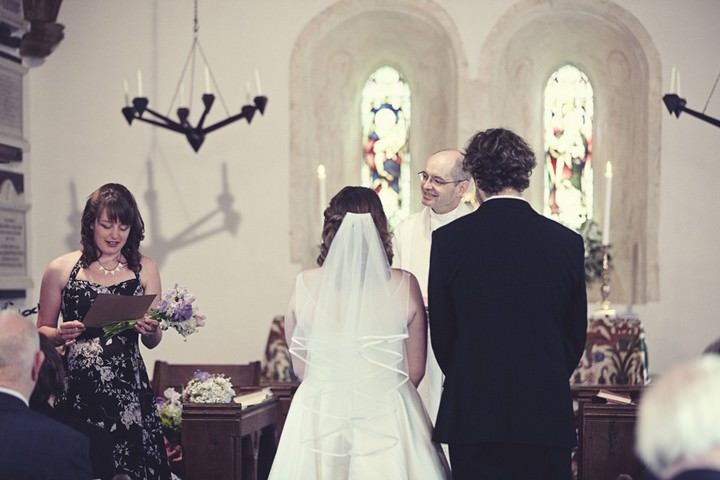 wedding ceremony at St James Church, Ruscombe