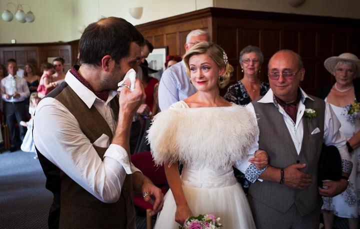 wedding ceremony at Tonbridge Castle