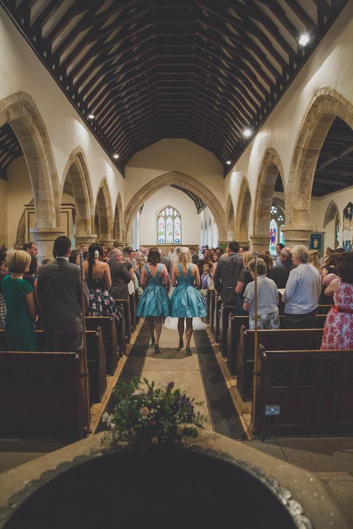 wedding ceremony at Whitburn Parish Church near Sunderland