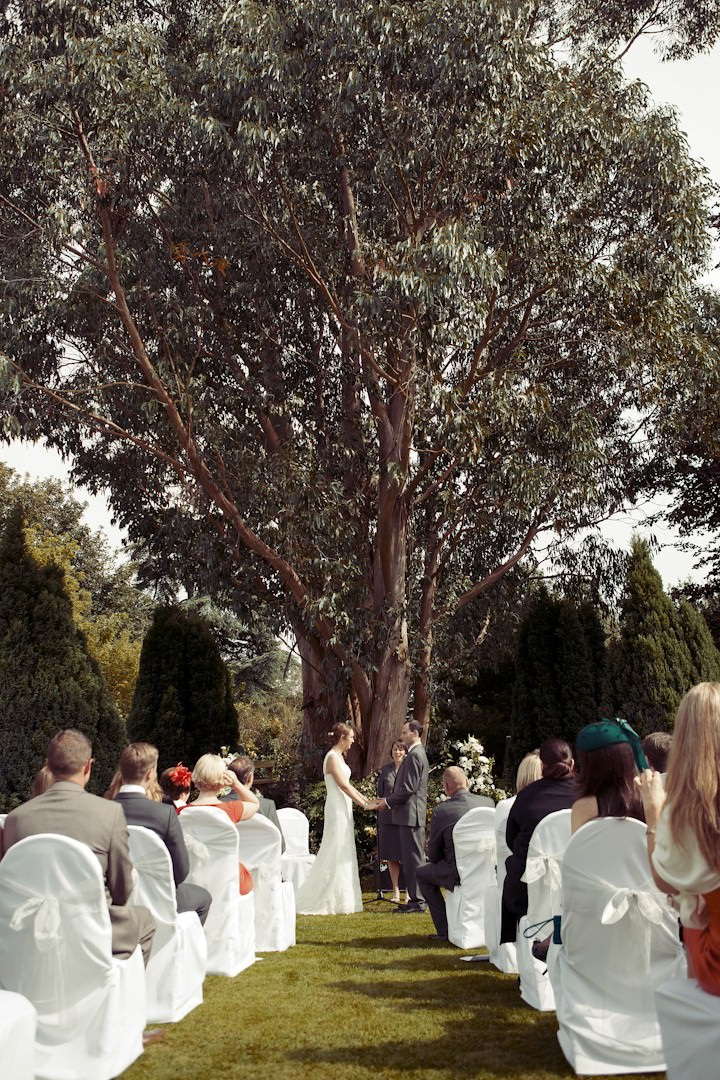 outdoor humanist wedding ceremony in somerset