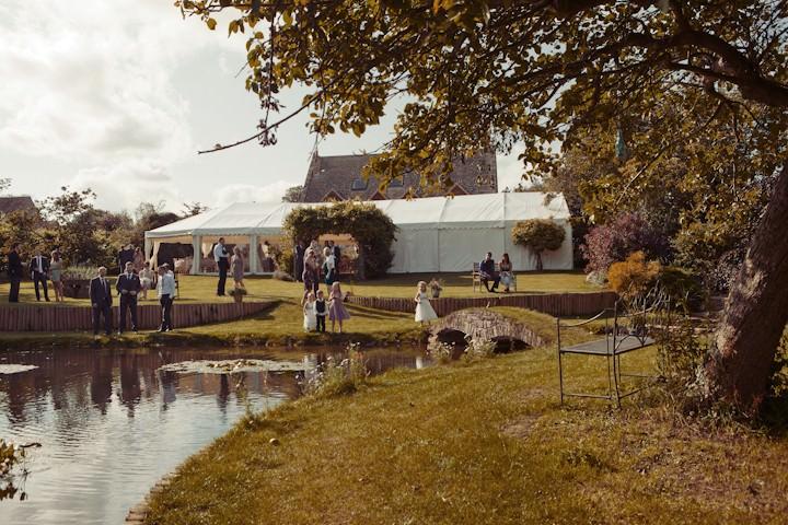 marquee wedding reception in somerset