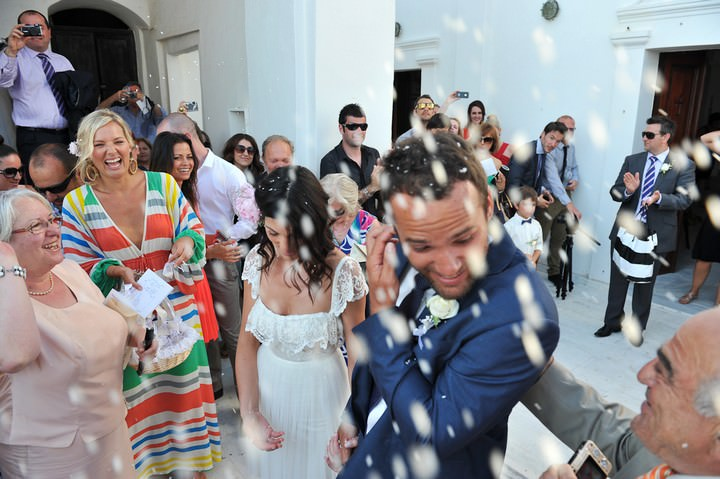 wedding ceremony at Anastasi Church, Imerovigli in Santorini
