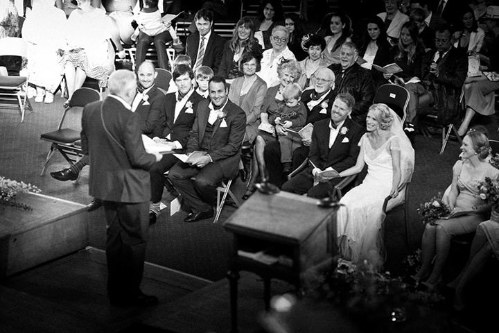 wedding ceremony at Westminster Central Hall