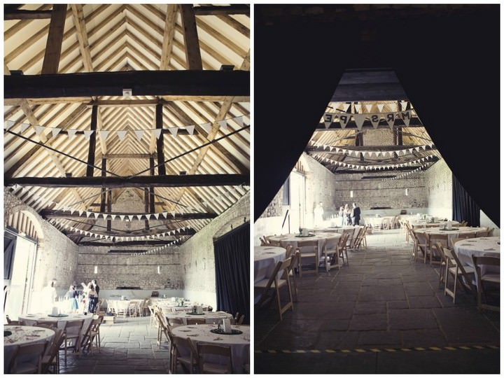 wedding reception at Monk's Barn Hurley