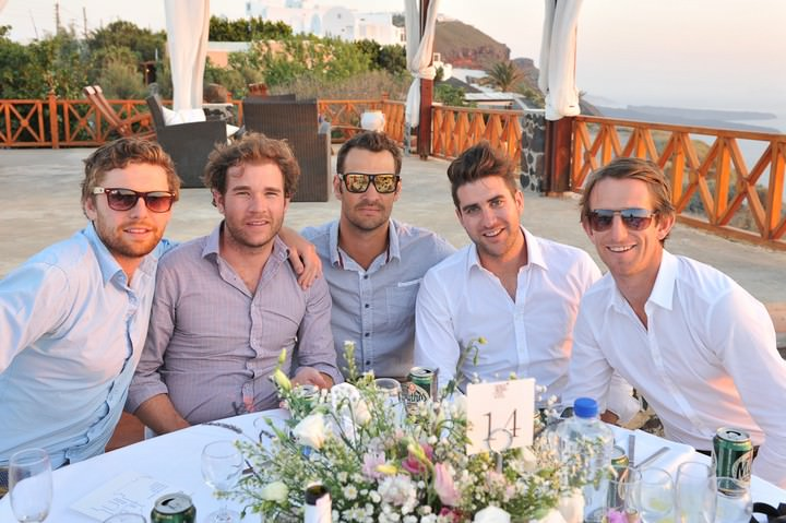 wedding reception at Imerovigli Palace in Santorini