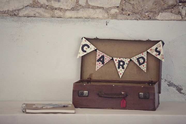 vintage suitcase for cards and presents
