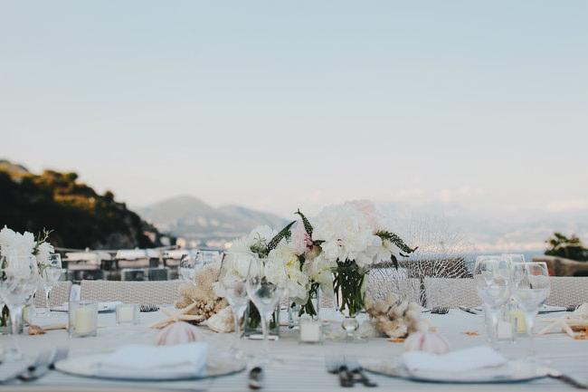 wedding ireception details on the Amalfi Coast Italy