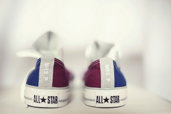 mr and mrs personalised converse