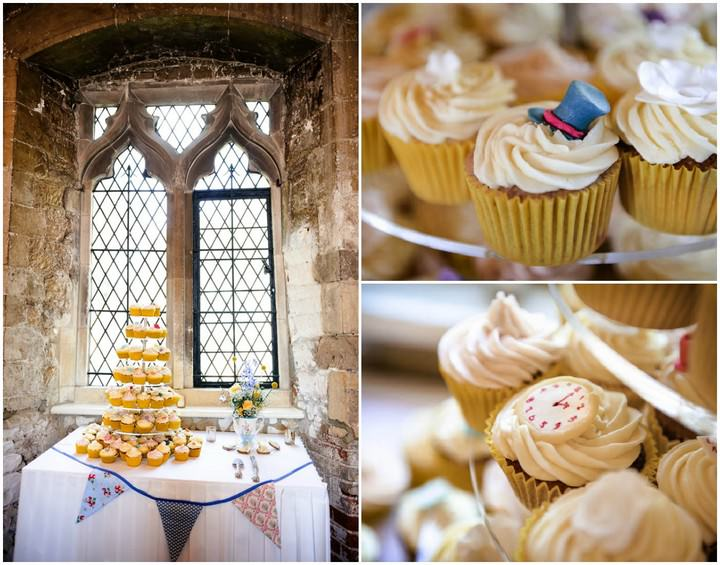 yellow wedding cup cakes