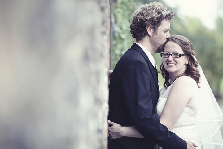 converse loving wedding couple