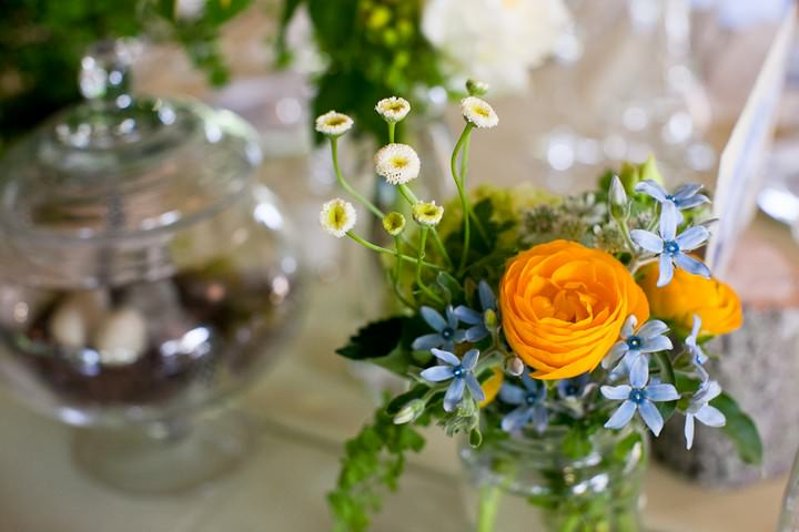 yellow and green wedding reception