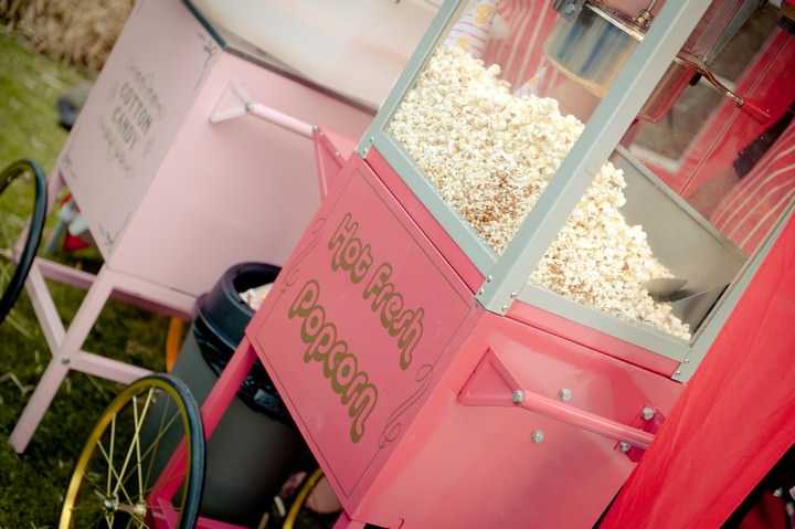 pop corn and candy floss