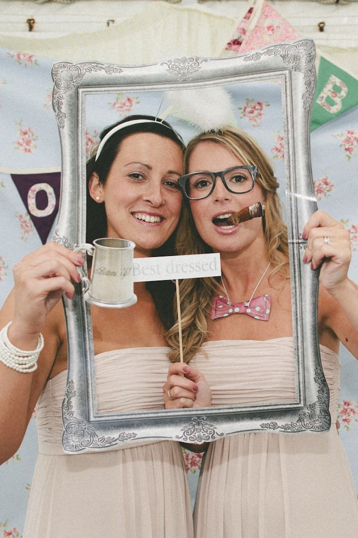 Photo booth at a Leicester wedding