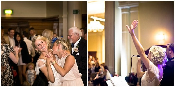 wedding reception at  Westminster Central Hall in London