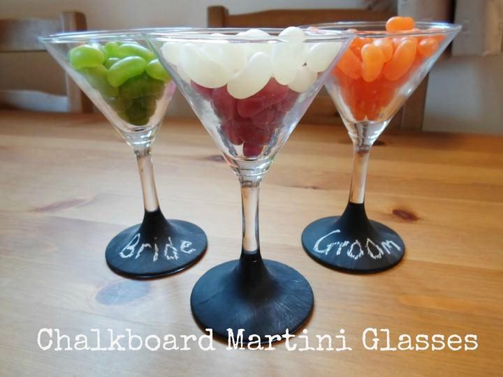 DIY Tutorial - Chalkboard Martini Glasses