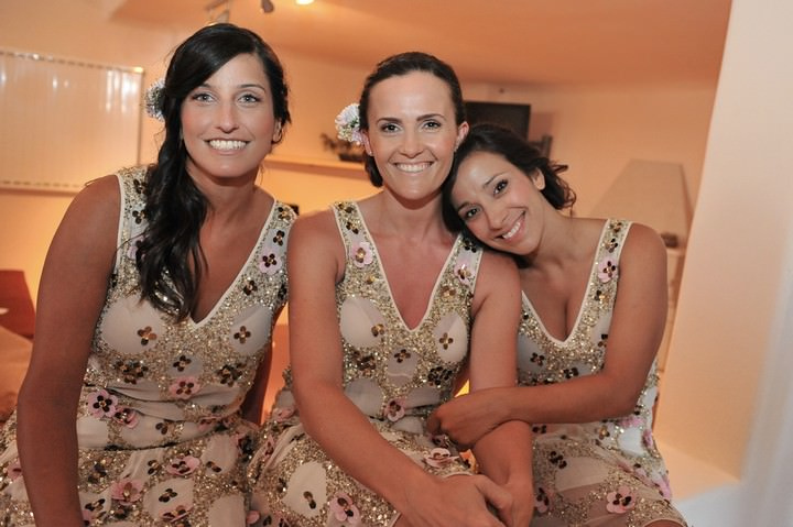 Bridesmaid in Santorini