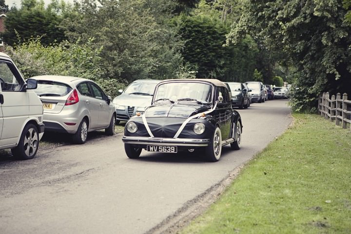 vintage black VW beetle