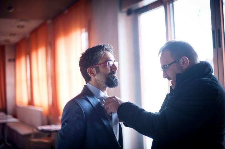 Groom getting ready for an Italian wedding