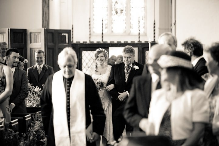 wedding ceremony at All Saints Church, Langtree North Devon