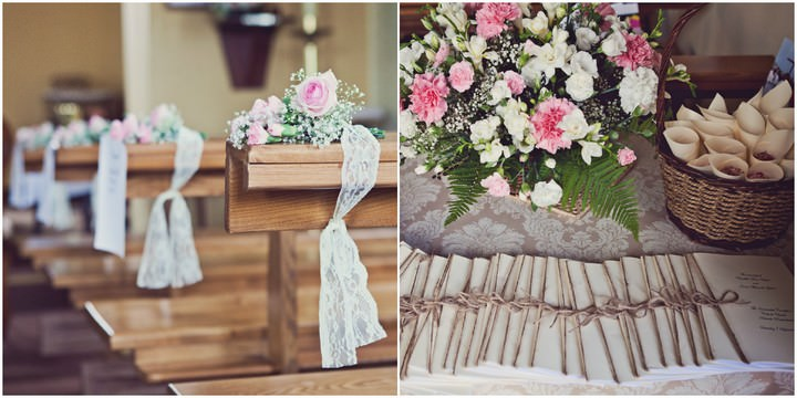 Glam wedding in pembrokeshire boho weddings pembrokeshire wedding details at immaculate conception roman catholic church junglespirit Images