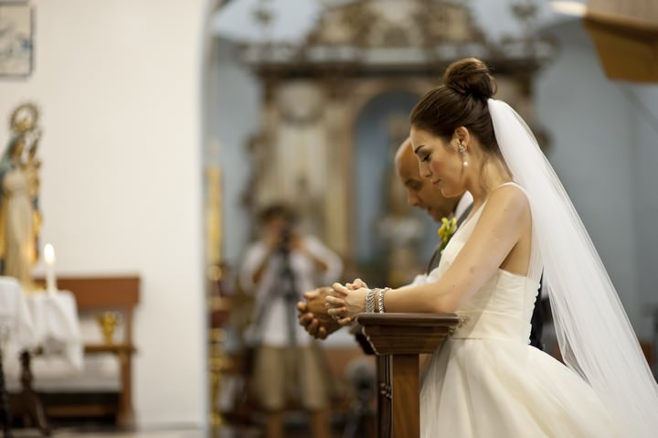 wedding ceremony in an Ibiza Church