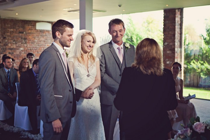 wedding ceremony at the Doubletree in Chester
