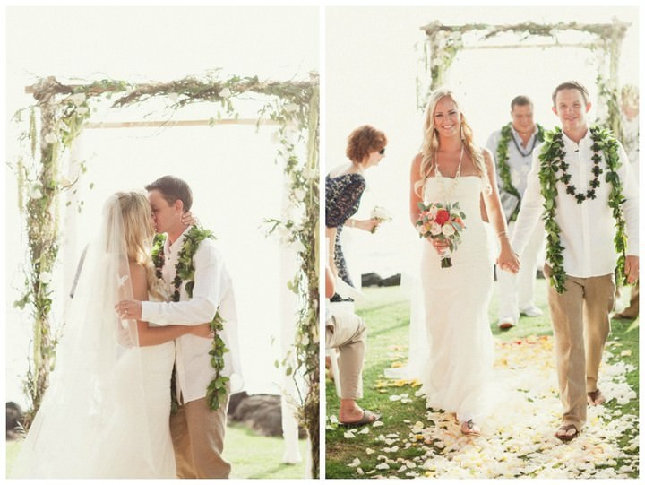 Hawaiian Wedding ceremony at Hapuna Prince Resort