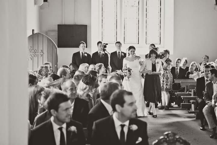 wedding ceremony at Immaculate Conception Roman Catholic Church,  Pembrokeshire