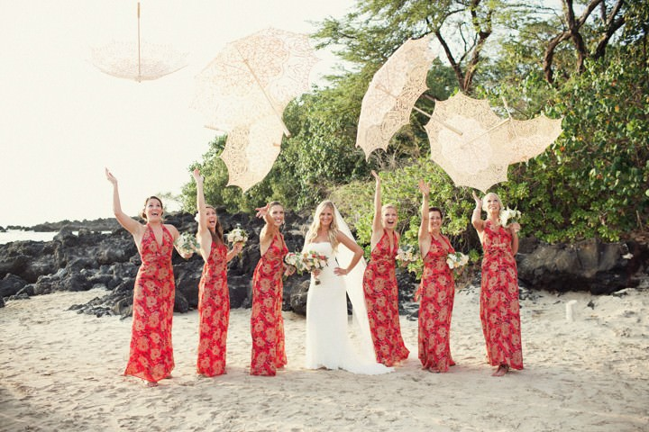 group shot at a Hawaii wedding