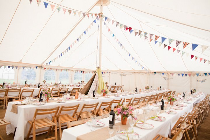 North Devon Country wedding reception
