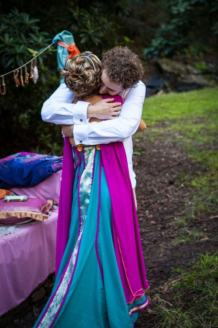 wedding ceremony at JC Slaughter Falls, Mt Cootha in Brisbane.