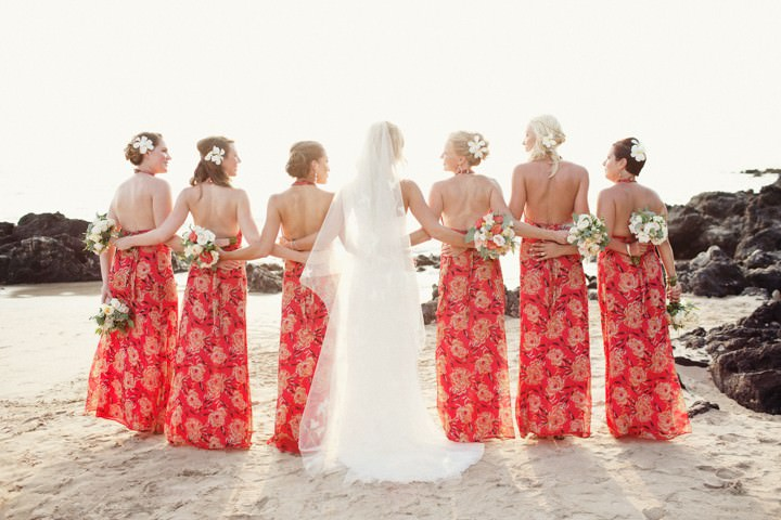 Lauren and brians magical hawaiian wedding with a moroccan twist by group shot at a hawaii wedding junglespirit Images