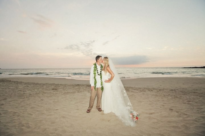 Hawaii wedding couple portrait shots on the beach