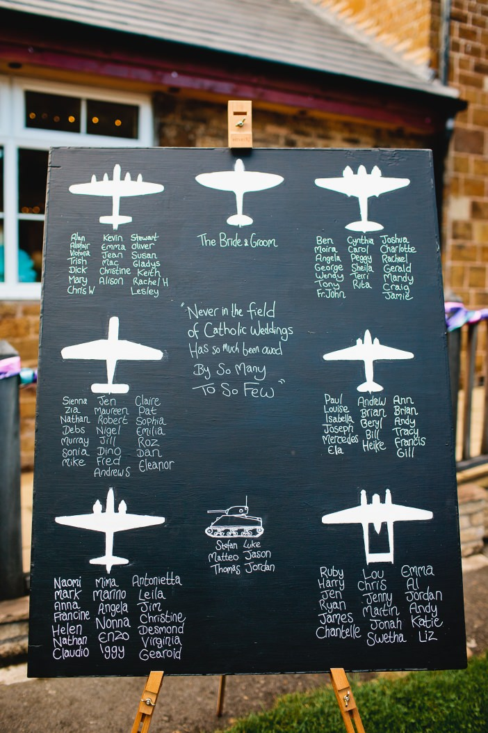 airplane table plan