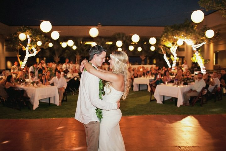 first dance at a Hawaii wedding