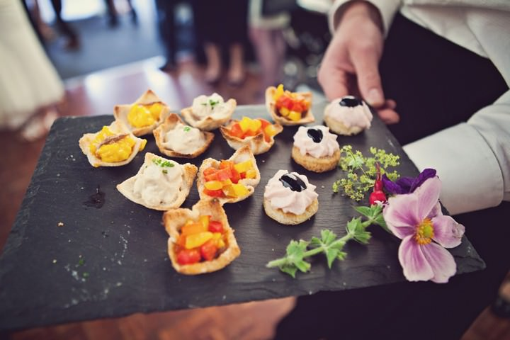 wedding food at a Pembrokeshire marquee wedding