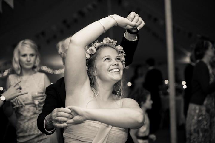 evening reception at a boho country wedding in North Devon
