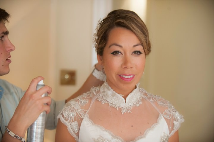 bride ready on her wedding day