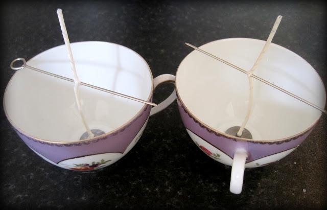 DIY Teacup Candles