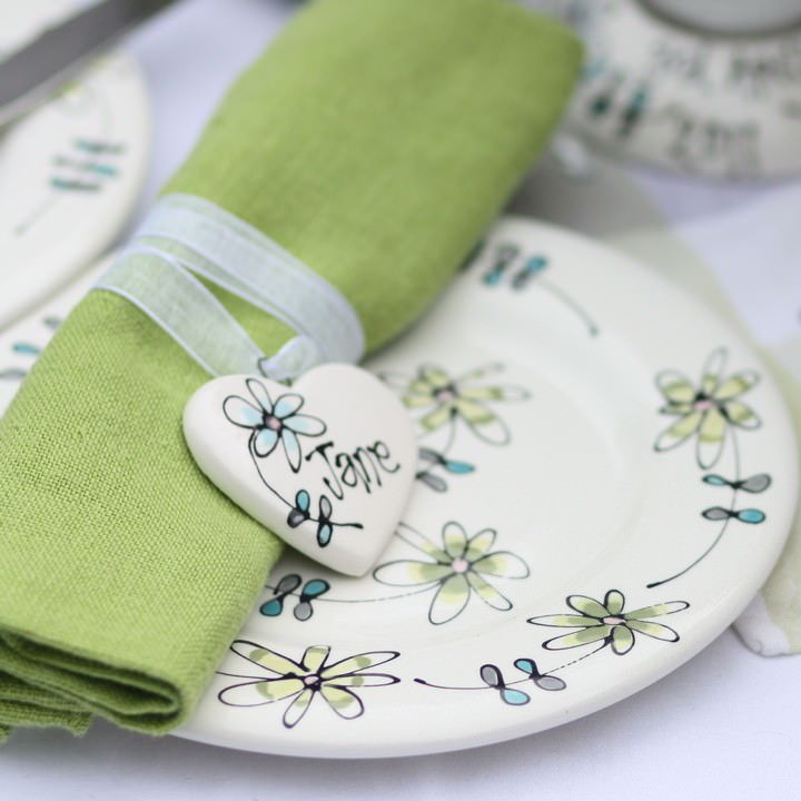 napkin tie £6 and plate