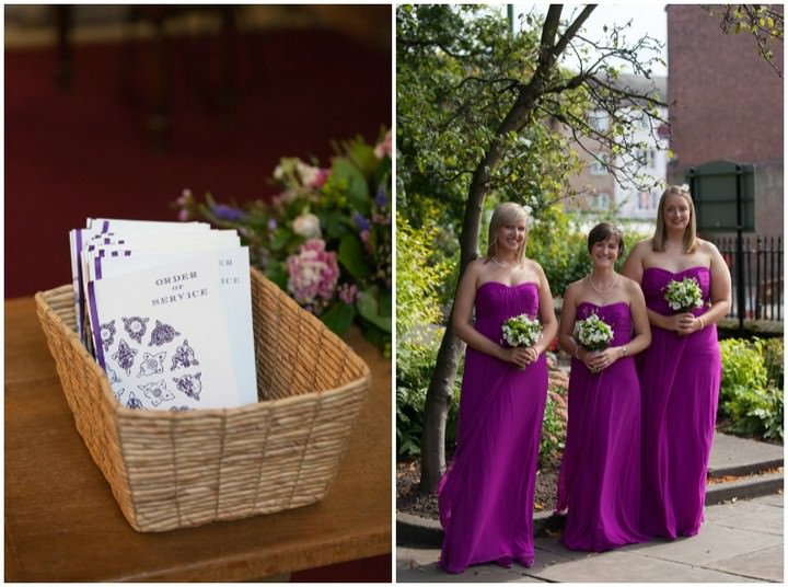 bridesmaids at a leek wedding