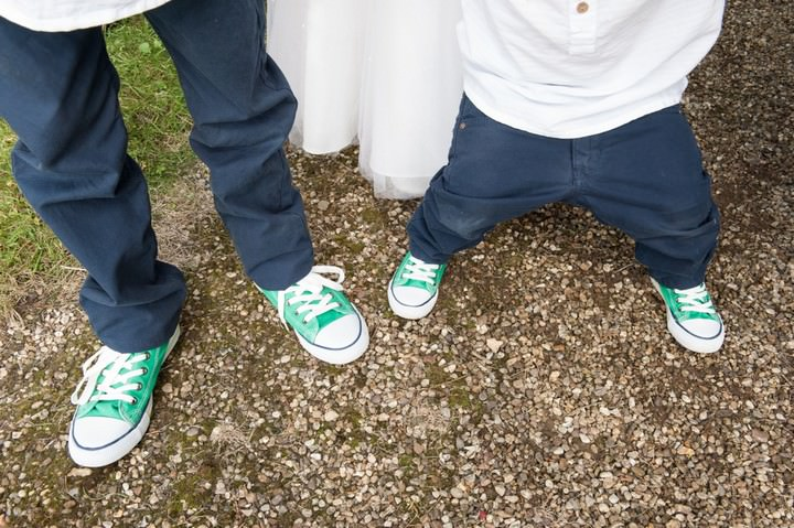 green wedding converse