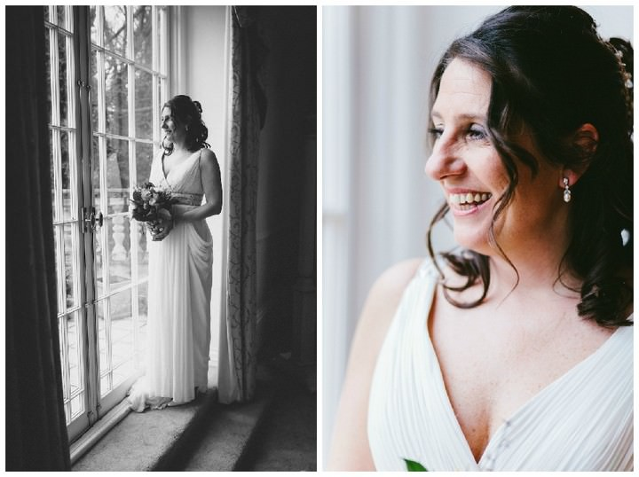 kent bride getting ready on her wedding day