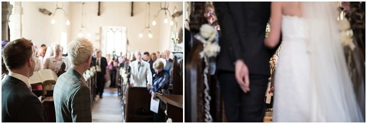 wedding ceremony in a South Leicestershire church