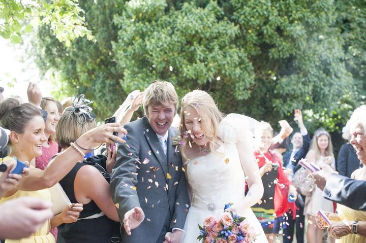 wedding ceremony at St Peters Church Soberton, Hampshire.