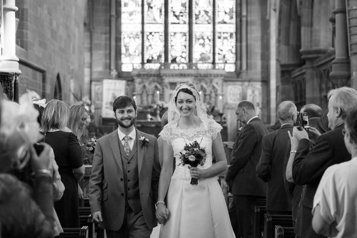 wedding ceremony at St.Edward's Church, Leek, Staffordshire
