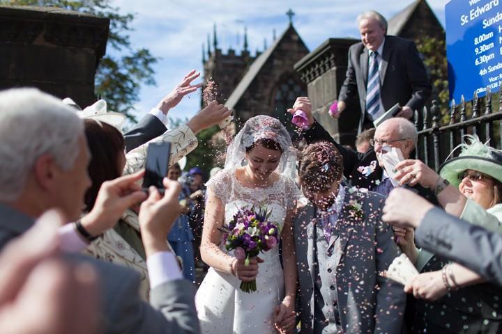 wedding at St.Edward's Church, Leek, Staffordshire